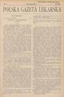 Polska Gazeta Lekarska. 1934, nr4