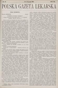 Polska Gazeta Lekarska. 1929, nr47