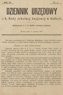 Dziennik Urzędowy c. k. Rady szkolnej krajowej w Galicyi. 1902, nr1