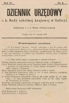 Dziennik Urzędowy c. k. Rady szkolnej krajowej w Galicyi. 1902, nr4