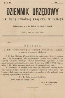 Dziennik Urzędowy c. k. Rady szkolnej krajowej w Galicyi. 1902, nr7