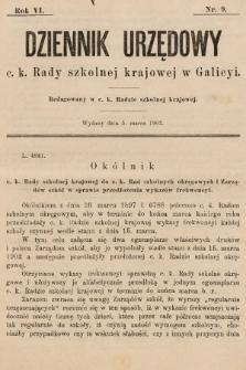 Dziennik Urzędowy c. k. Rady szkolnej krajowej w Galicyi. 1902, nr9