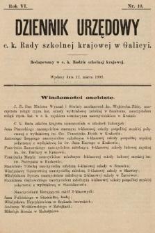Dziennik Urzędowy c. k. Rady szkolnej krajowej w Galicyi. 1902, nr10