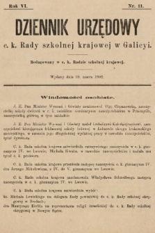 Dziennik Urzędowy c. k. Rady szkolnej krajowej w Galicyi. 1902, nr11