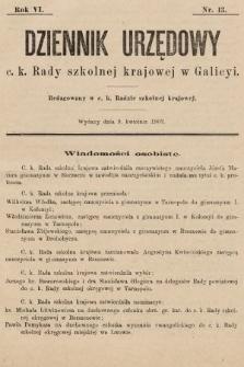 Dziennik Urzędowy c. k. Rady szkolnej krajowej w Galicyi. 1902, nr13