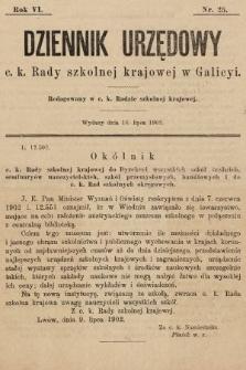 Dziennik Urzędowy c. k. Rady szkolnej krajowej w Galicyi. 1902, nr25
