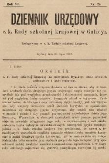 Dziennik Urzędowy c. k. Rady szkolnej krajowej w Galicyi. 1902, nr26