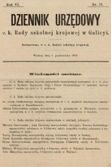 Dziennik Urzędowy c. k. Rady szkolnej krajowej w Galicyi. 1902, nr33