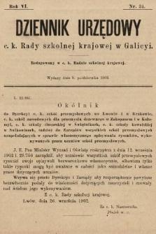 Dziennik Urzędowy c. k. Rady szkolnej krajowej w Galicyi. 1902, nr34