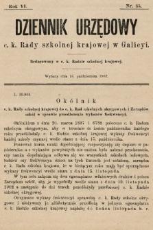 Dziennik Urzędowy c. k. Rady szkolnej krajowej w Galicyi. 1902, nr35