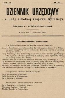 Dziennik Urzędowy c. k. Rady szkolnej krajowej w Galicyi. 1902, nr36