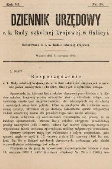 Dziennik Urzędowy c. k. Rady szkolnej krajowej w Galicyi. 1902, nr38