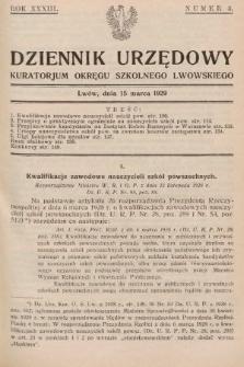 Dziennik Urzędowy Kuratorjum Okręgu Szkolnego Lwowskiego. 1929, nr3