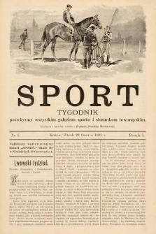 Sport : tygodnik poświęcony wszystkim gałęziom sportu i stosunkom towarzyskim. 1891, nr8