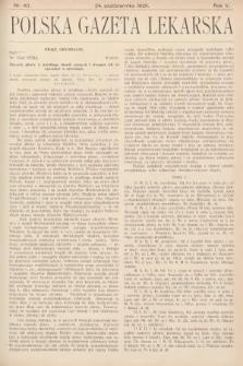 Polska Gazeta Lekarska. 1926, nr43