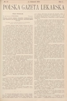 Polska Gazeta Lekarska. 1926, nr47