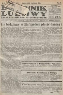 Dziennik Ludowy : organ Polskiej Partyi Socyalistycznej. 1922, nr5
