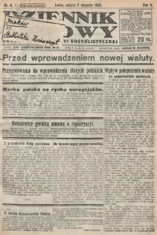 Dziennik Ludowy : organ Polskiej Partyi Socyalistycznej. 1922, nr6