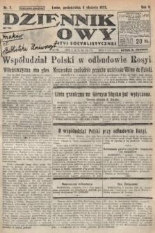 Dziennik Ludowy : organ Polskiej Partyi Socyalistycznej. 1922, nr7