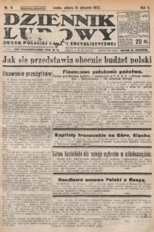 Dziennik Ludowy : organ Polskiej Partyi Socyalistycznej. 1922, nr11