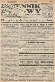Dziennik Ludowy : organ Polskiej Partyi Socyalistycznej. 1922, nr16