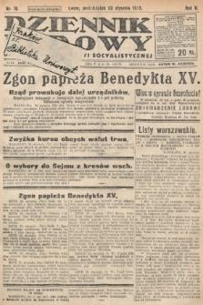 Dziennik Ludowy : organ Polskiej Partyi Socyalistycznej. 1922, nr19