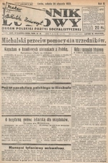 Dziennik Ludowy : organ Polskiej Partyi Socyalistycznej. 1922, nr23