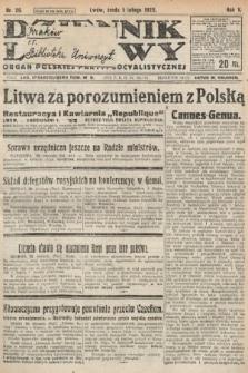 Dziennik Ludowy : organ Polskiej Partyi Socyalistycznej. 1922, nr26