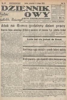 Dziennik Ludowy : organ Polskiej Partyi Socyalistycznej. 1922, nr27