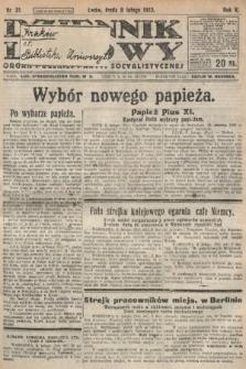 Dziennik Ludowy : organ Polskiej Partyi Socyalistycznej. 1922, nr31