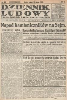 Dziennik Ludowy : organ Polskiej Partyi Socyalistycznej. 1922, nr33