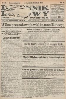 Dziennik Ludowy : organ Polskiej Partyi Socyalistycznej. 1922, nr40