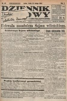 Dziennik Ludowy : organ Polskiej Partyi Socyalistycznej. 1922, nr43