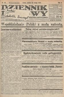 Dziennik Ludowy : organ Polskiej Partyi Socyalistycznej. 1922, nr46