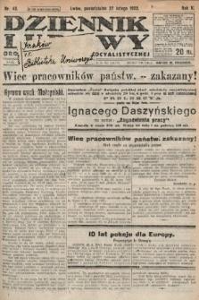 Dziennik Ludowy : organ Polskiej Partyi Socyalistycznej. 1922, nr48