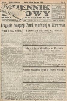 Dziennik Ludowy : organ Polskiej Partyi Socyalistycznej. 1922, nr52