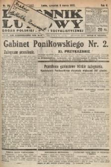 Dziennik Ludowy : organ Polskiej Partyi Socyalistycznej. 1922, nr56
