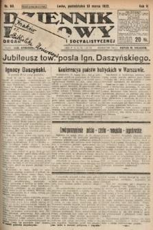 Dziennik Ludowy : organ Polskiej Partyi Socyalistycznej. 1922, nr60