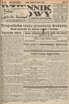 Dziennik Ludowy : organ Polskiej Partyi Socyalistycznej. 1922, nr61