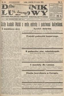 Dziennik Ludowy : organ Polskiej Partyi Socyalistycznej. 1922, nr62