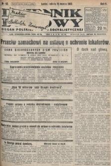 Dziennik Ludowy : organ Polskiej Partyi Socyalistycznej. 1922, nr63