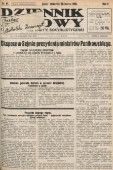 Dziennik Ludowy : organ Polskiej Partyi Socyalistycznej. 1922, nr67