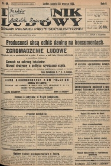 Dziennik Ludowy : organ Polskiej Partyi Socyalistycznej. 1922, nr69