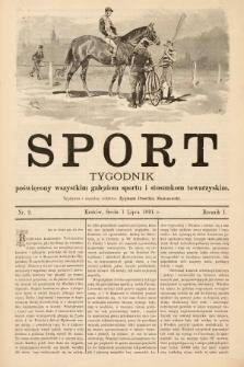 Sport : tygodnik poświęcony wszystkim gałęziom sportu i stosunkom towarzyskim. 1891, nr9
