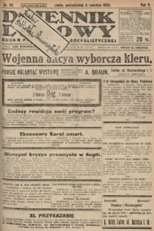 Dziennik Ludowy : organ Polskiej Partyi Socyalistycznej. 1922, nr75