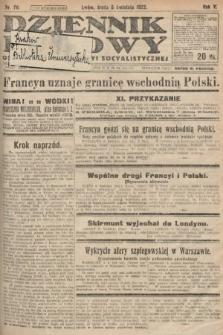 Dziennik Ludowy : organ Polskiej Partyi Socyalistycznej. 1922, nr76