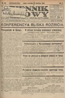 Dziennik Ludowy : organ Polskiej Partyi Socyalistycznej. 1922, nr93
