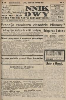 Dziennik Ludowy : organ Polskiej Partyi Socyalistycznej. 1922, nr95