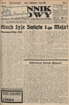 Dziennik Ludowy : organ Polskiej Partyi Socyalistycznej. 1922, nr97