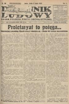Dziennik Ludowy : organ Polskiej Partyi Socyalistycznej. 1922, nr98